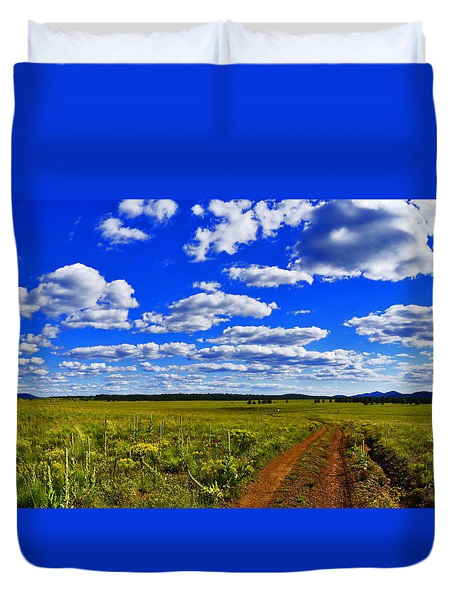 Red Road Duvet Cover featuring the photograph Red Road by Patrick Moore
