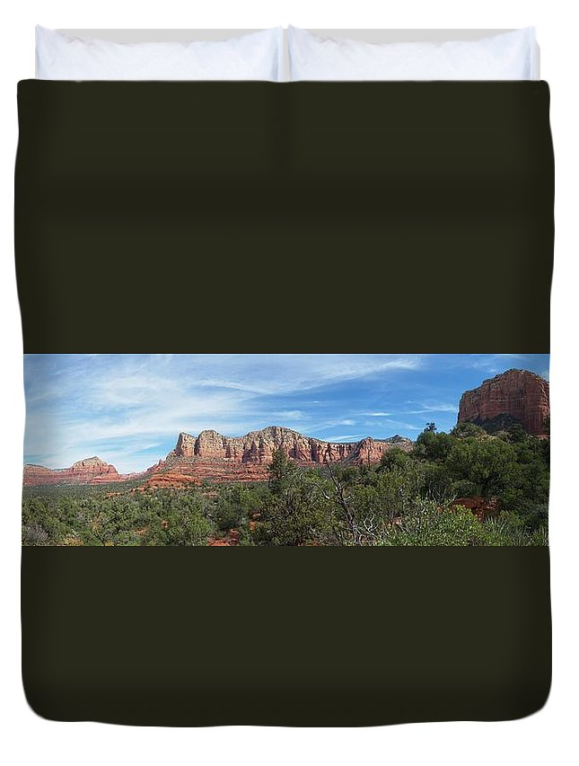 Arizona Duvet Cover featuring the photograph Red Rock Views by Two Bridges North