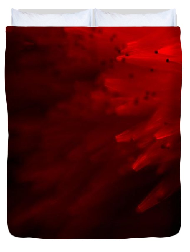 Abstract Duvet Cover featuring the photograph Red Skies by Dazzle Zazz