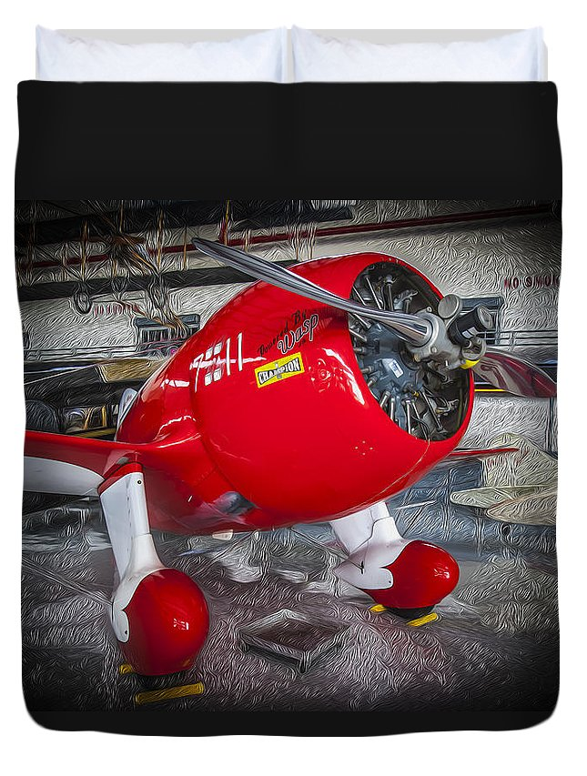 Acrobatic Plane Duvet Cover featuring the photograph Red Speedster by Rich Franco