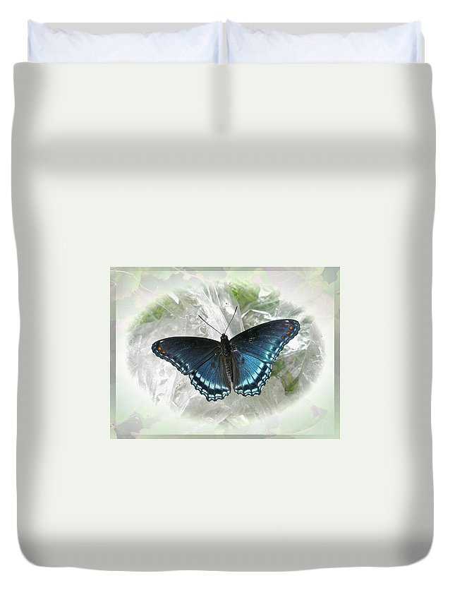 Butterfly Duvet Cover featuring the photograph Red-spotted Purple Butterfly - Limenitis Arthemis by Mother Nature