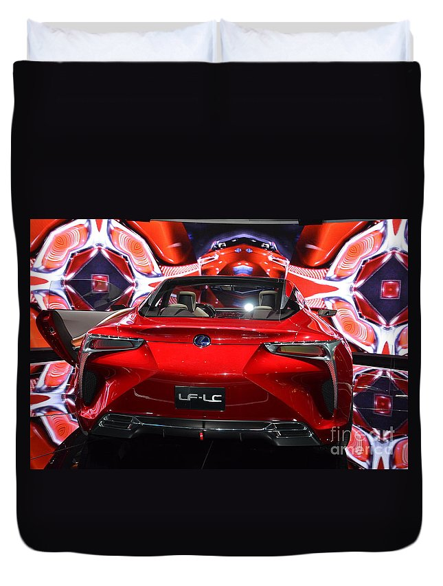 Kates Downtown Deli Duvet Cover featuring the photograph Red Velocity by Randy J Heath