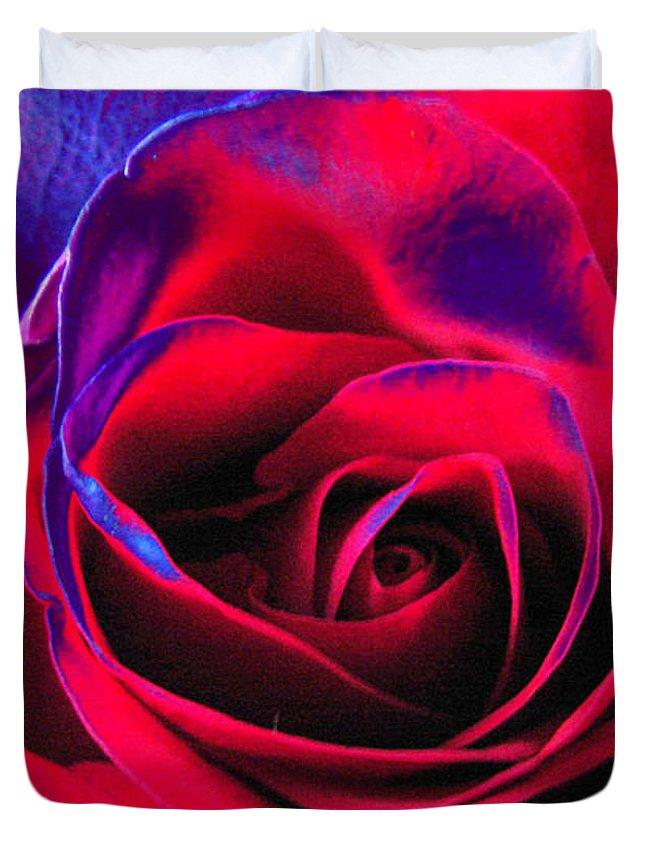 Velvet Duvet Cover featuring the digital art Red Velvet by Carol Lynch