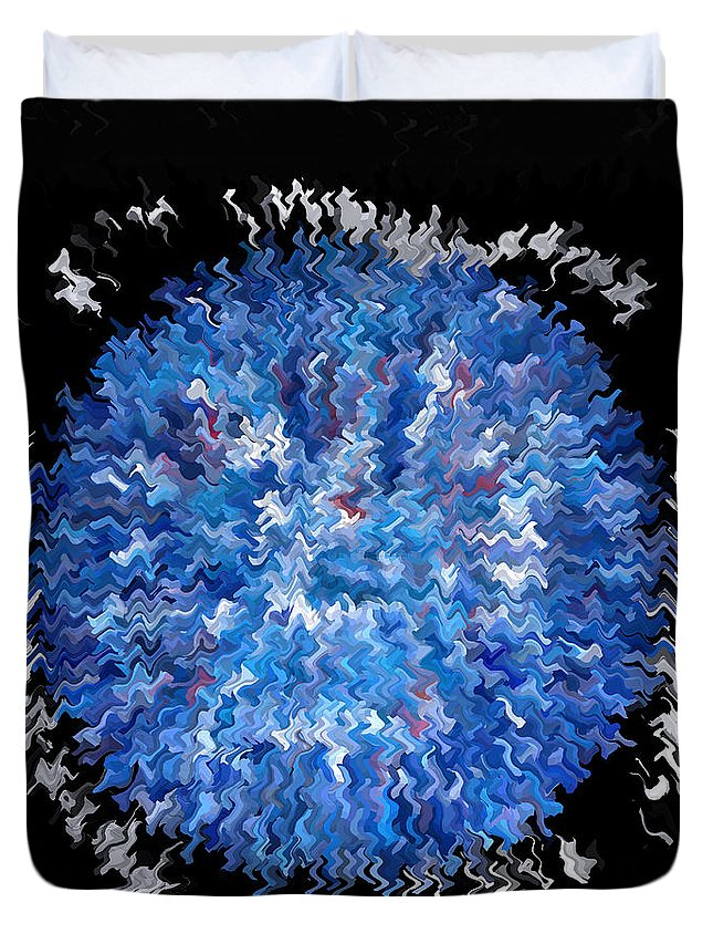 Beautiful Duvet Cover featuring the painting Red White Blue Abstract by Carl Deaville
