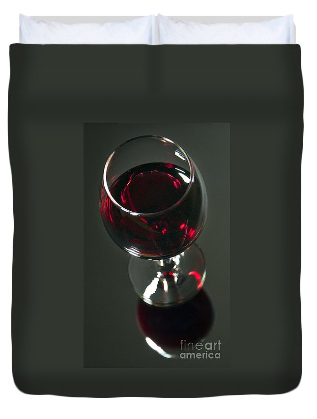 Wine Duvet Cover featuring the photograph Red Wine Beverage by Glenn Gordon