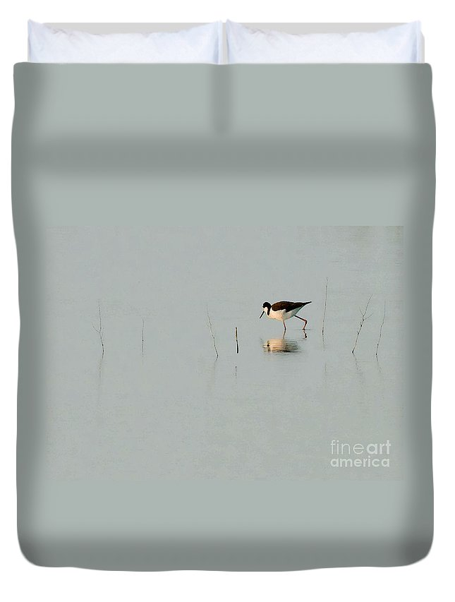 Bird Duvet Cover featuring the photograph Reed Bird II by Sharon Foster