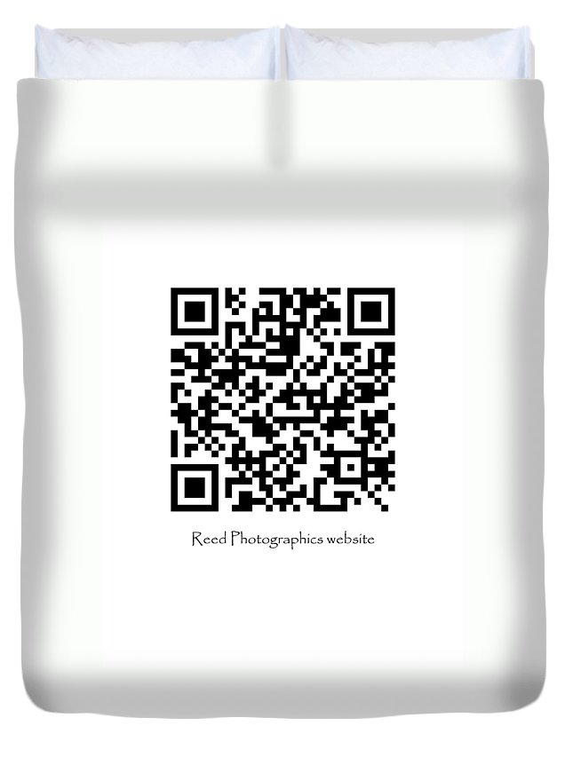 Duvet Cover featuring the photograph Reed Qr by Greg Reed