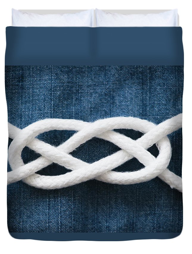 Security Duvet Cover featuring the photograph Reef Knot by Jamie Grill