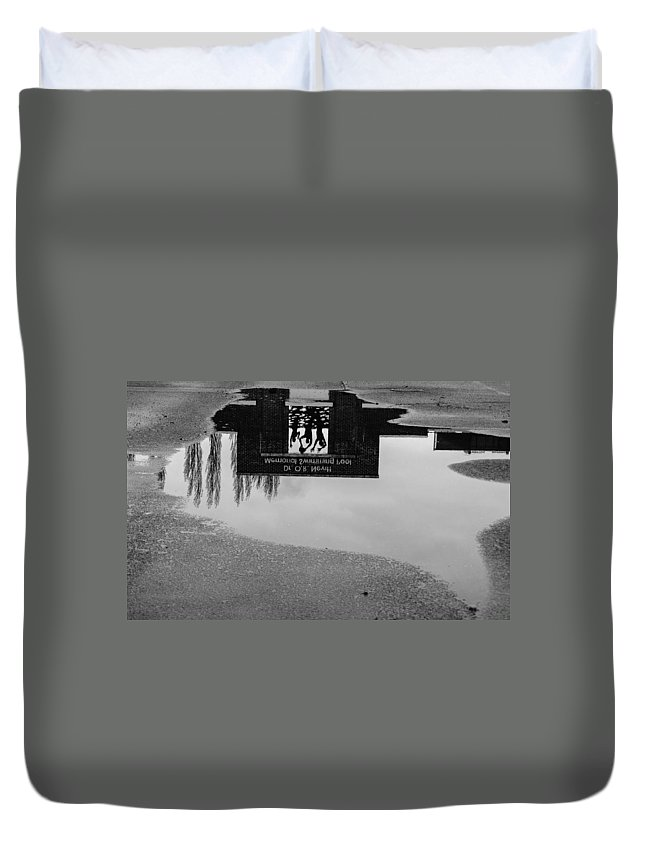 Reflection Duvet Cover featuring the photograph Reflection 001 by Howard Tenke