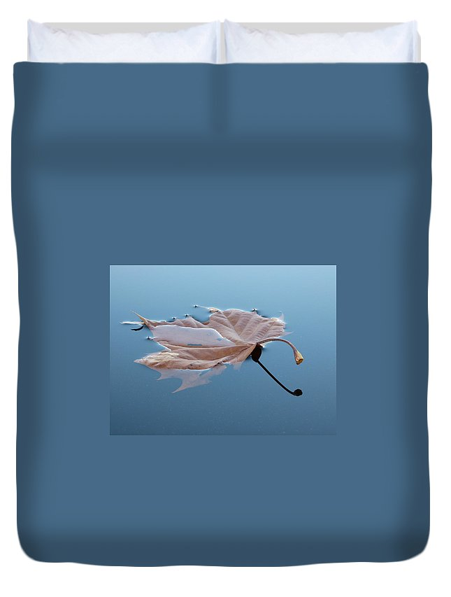 Leaf Reflection Duvet Cover featuring the photograph Reflection by Jane Ford