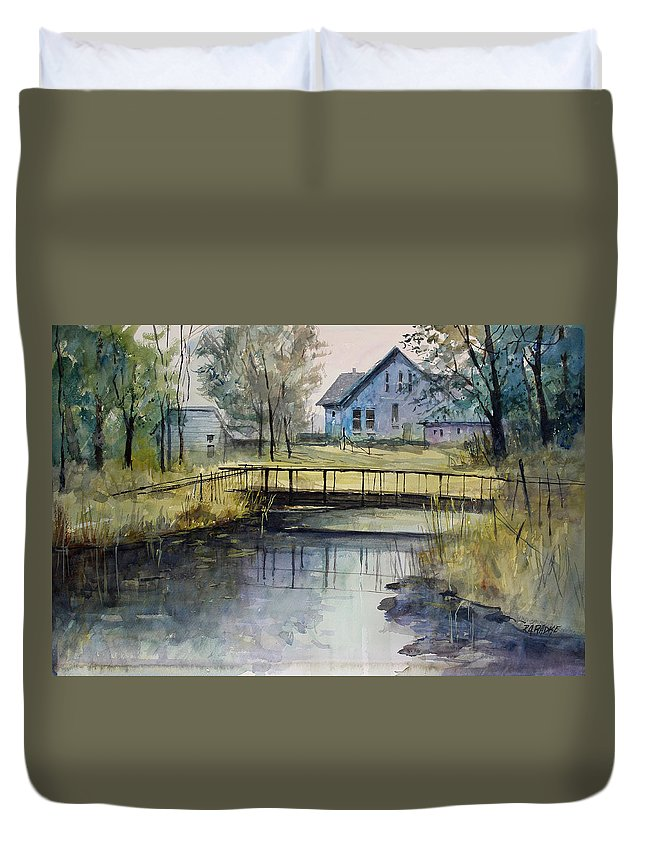 Ryan Radke Duvet Cover featuring the painting Reflections #2 by Ryan Radke