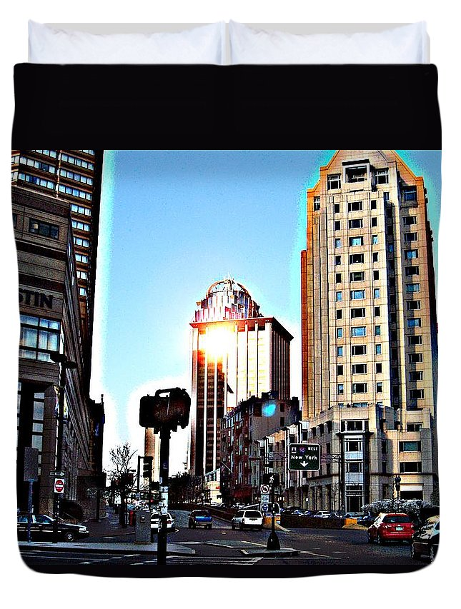 Boston Duvet Cover featuring the photograph Reflections About Boston by Marcello Cicchini