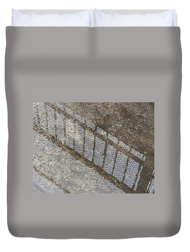 Rainy Days Duvet Cover featuring the photograph Reflections In Grey by Ira Shander