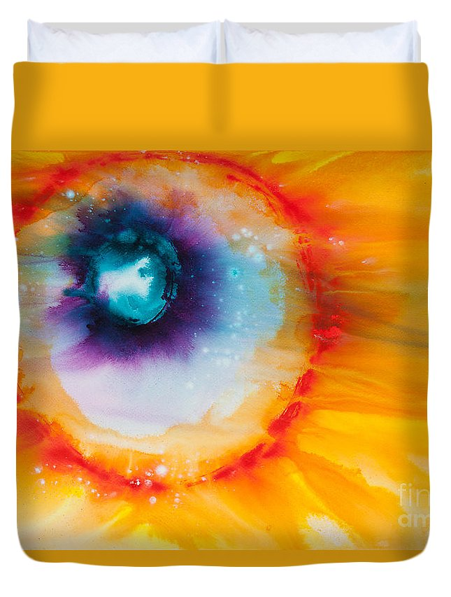 Ilisa Millermoon Duvet Cover featuring the painting Reflections Of The Universe No. 2153 by Ilisa Millermoon