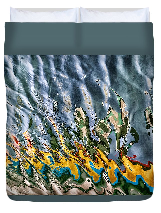 Afternoon Duvet Cover featuring the photograph Reflections by Stelios Kleanthous