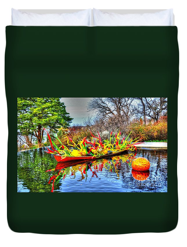 Boat Duvet Cover featuring the photograph Reflective Boat by Debbi Granruth