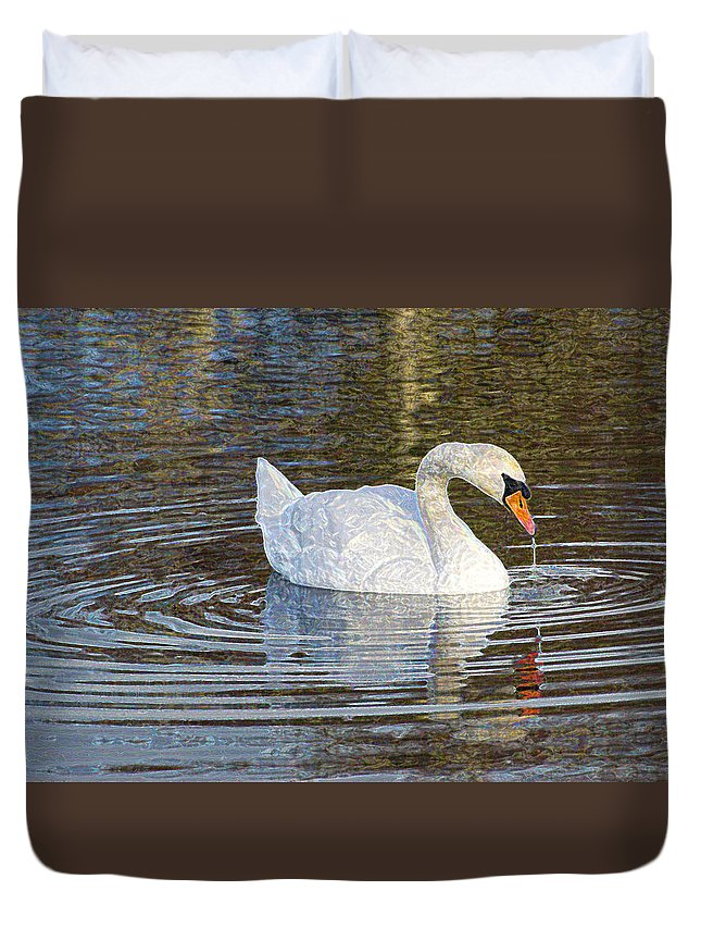 Macro Duvet Cover featuring the photograph Serene Beauty by Dave Byrne