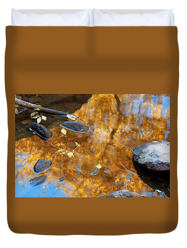 Autumn Colors Duvet Cover featuring the photograph The Melting Pot by Jim Garrison