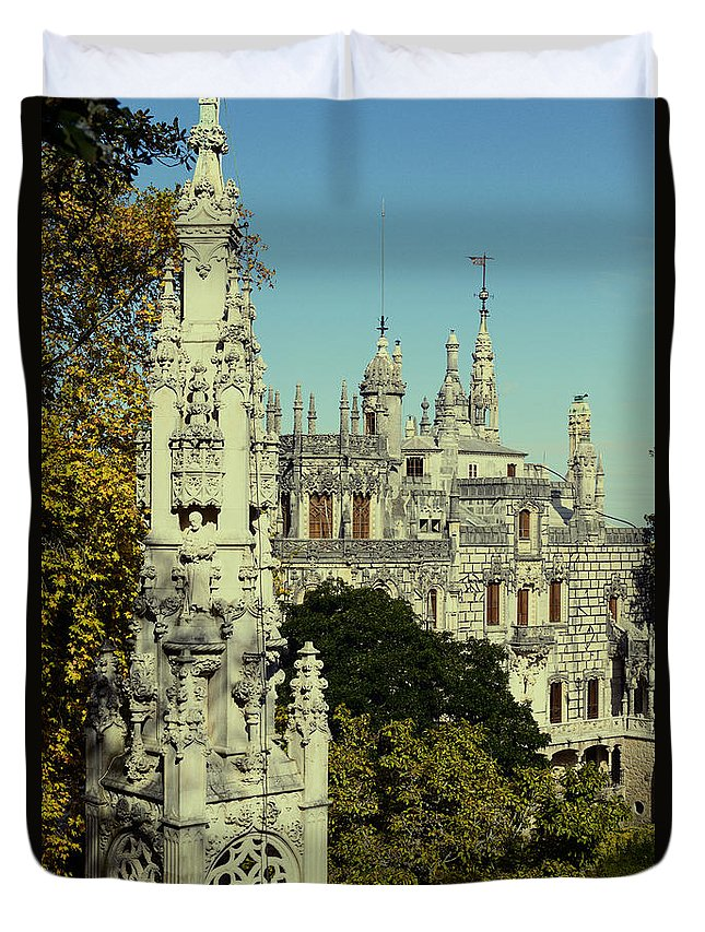Sintra Duvet Cover featuring the photograph Regaleira Palace I by Marco Oliveira