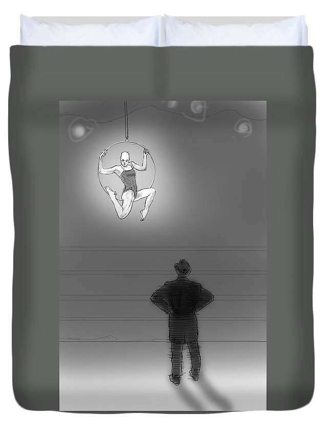 Circus Duvet Cover featuring the digital art Rehearsal by H James Hoff