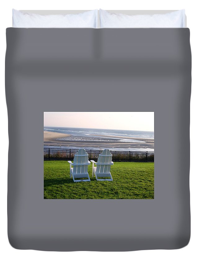 Ocean Duvet Cover featuring the photograph Relax And Enjoy by Christine Fournier