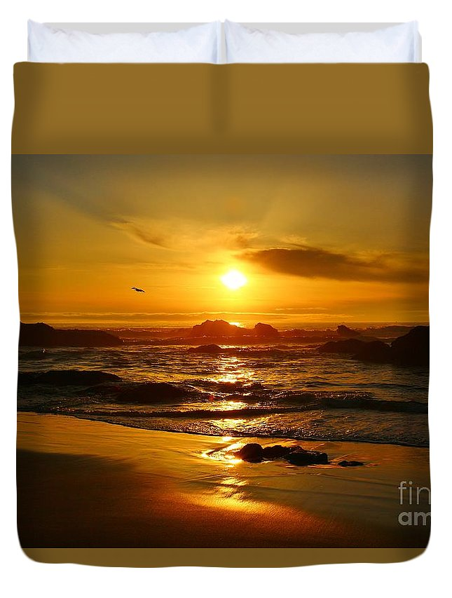 Beach Duvet Cover featuring the photograph Relaxation by Long Love Photography