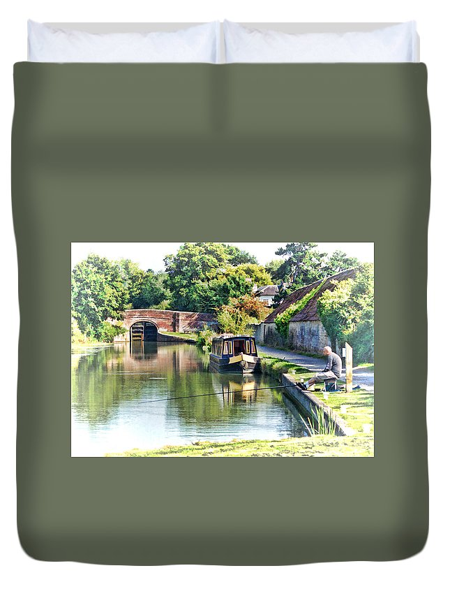 Canal Duvet Cover featuring the photograph Relaxation by Paul Gulliver