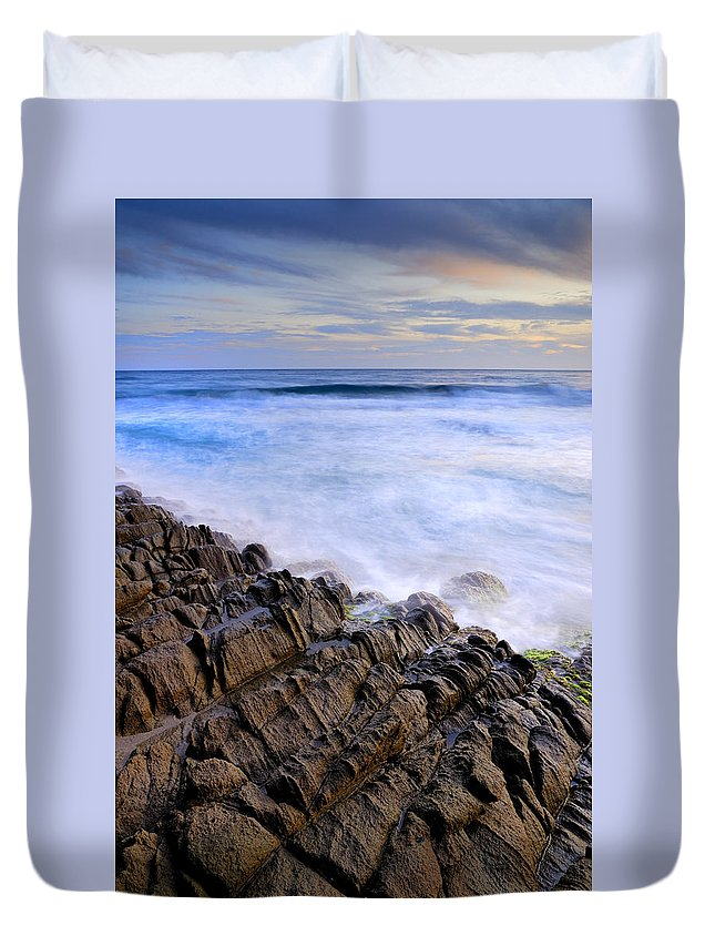 Seascape Duvet Cover featuring the photograph Remains Of Volcanoes by Guido Montanes Castillo