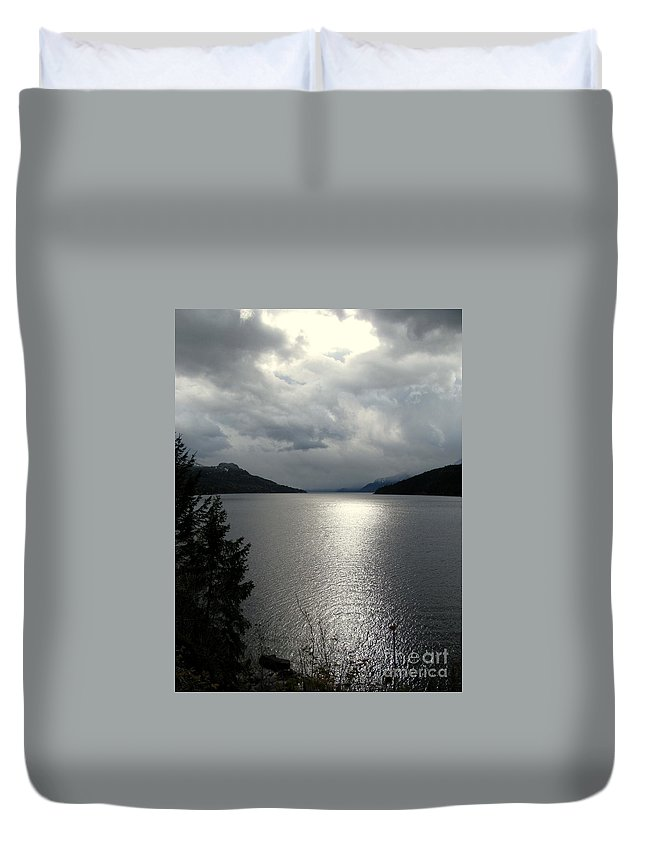 Kootenay Duvet Cover featuring the photograph Remants Of Sunshine by Leone Lund
