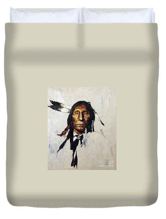 Southwest Art Duvet Cover featuring the painting Remember by J W Baker