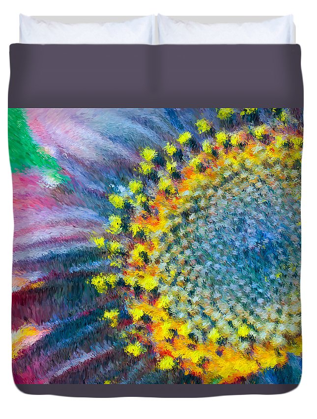 Yellow Duvet Cover featuring the photograph Remembering You by Heidi Smith