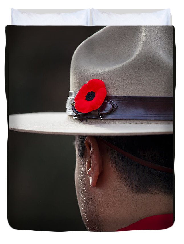 Remembrance Day Duvet Cover featuring the photograph Remembrance Day by Chris Dutton
