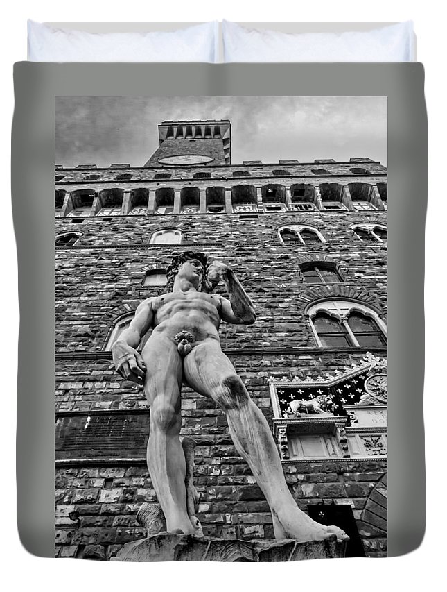 Architecture Duvet Cover featuring the photograph Replica by Maria Coulson