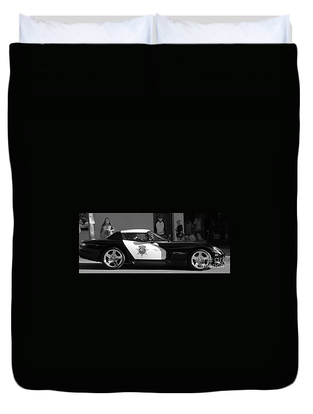 Law Enforcement Duvet Cover featuring the photograph Repurposing by Kris Hiemstra