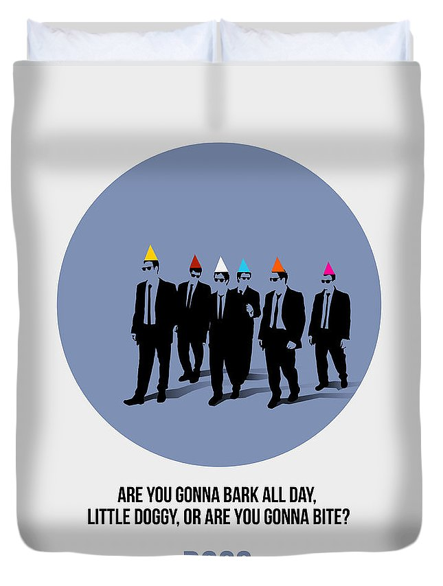 Reservoir Dogs Duvet Cover featuring the painting Reservoir Dogs Poster by Naxart Studio