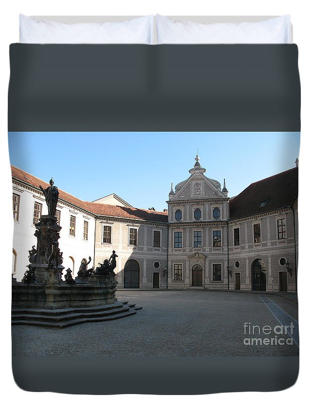 Residence Duvet Cover featuring the photograph Residence Munich by Christiane Schulze Art And Photography
