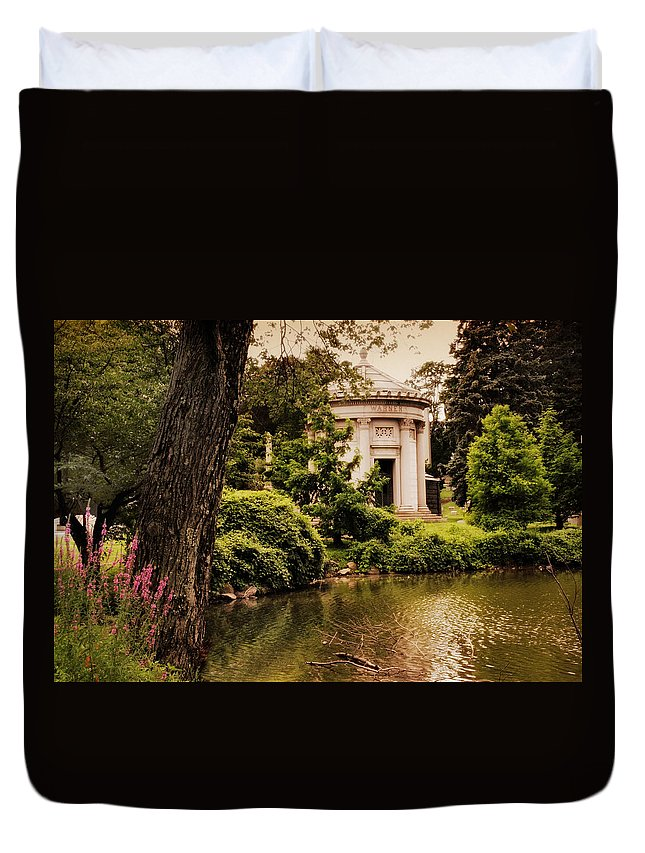 Woodlawn Cemetery Duvet Cover featuring the photograph Rest In Peace by Jessica Jenney