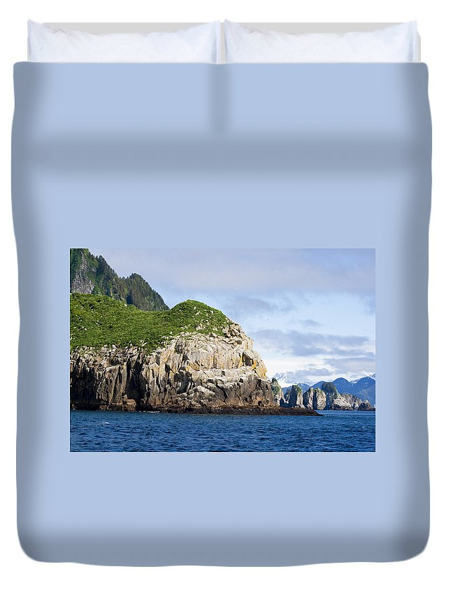 Kyle Lavey Photography Duvet Cover featuring the photograph Resurrection Bay 2 by Kyle Lavey