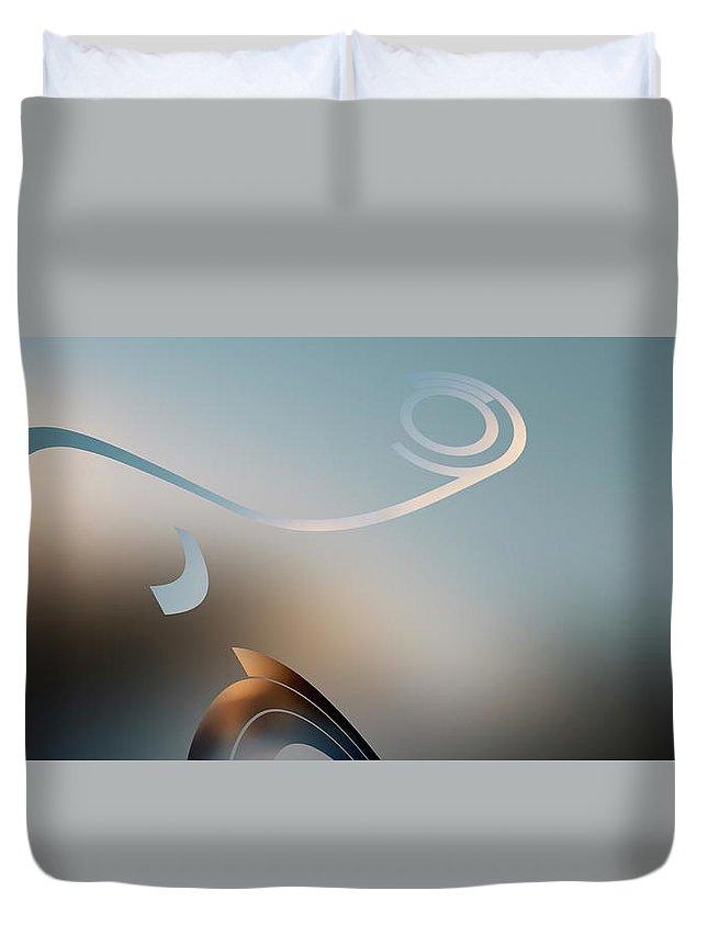 Curve Duvet Cover featuring the digital art Retro Pop Art Design by Ralf Hiemisch