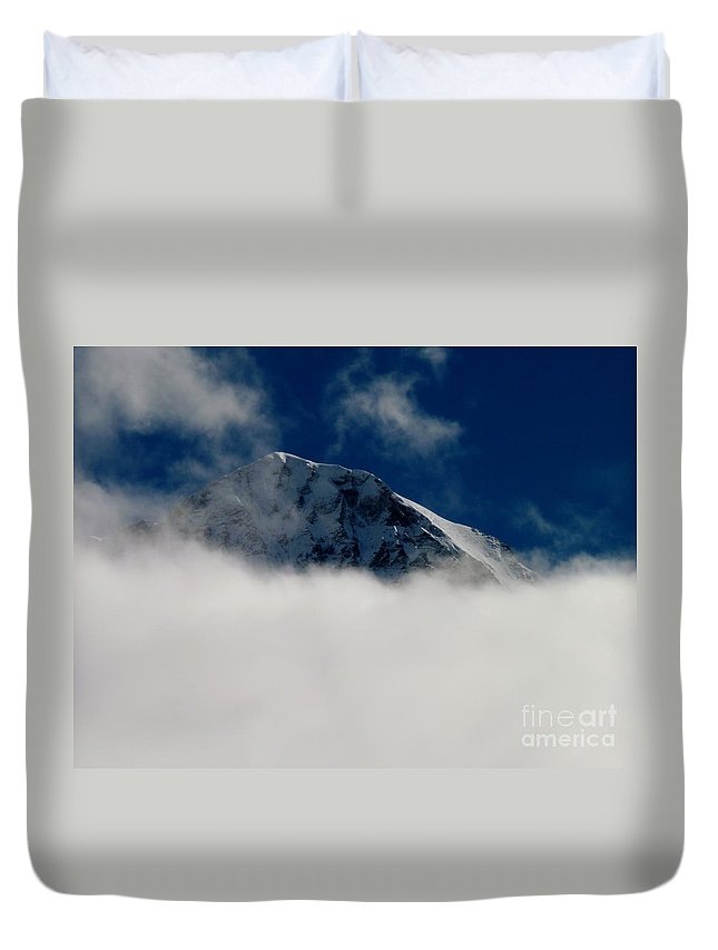 Switzerland Duvet Cover featuring the photograph Revealed by MAK Photography