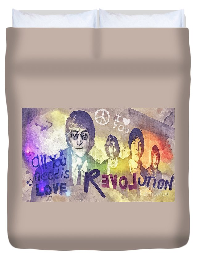 Rock N Roll George Harrison Duvet Covers