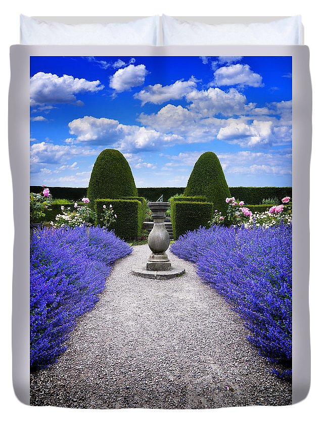 Purple Duvet Cover featuring the photograph Rhapsody In Blue by Meirion Matthias