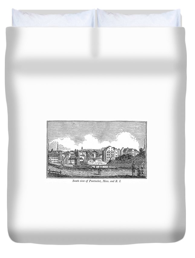 1839 Duvet Cover featuring the painting Rhode Island, Usa, 1839 by Granger