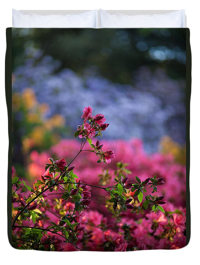 Rhododendron Duvet Cover featuring the photograph Rhododendron Pink Dream by Mike Reid