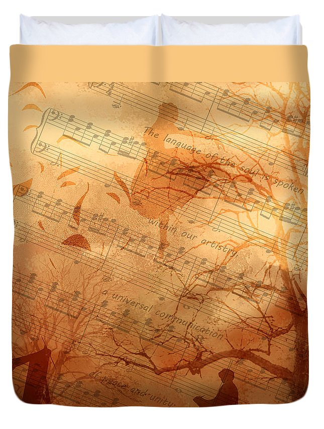 Fine Art Duvet Cover featuring the digital art Rhythm And Rhyme by Torie Tiffany