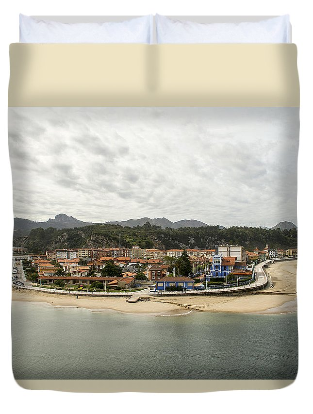 Asturias Duvet Cover featuring the photograph Ribadesella by For Ninety One Days