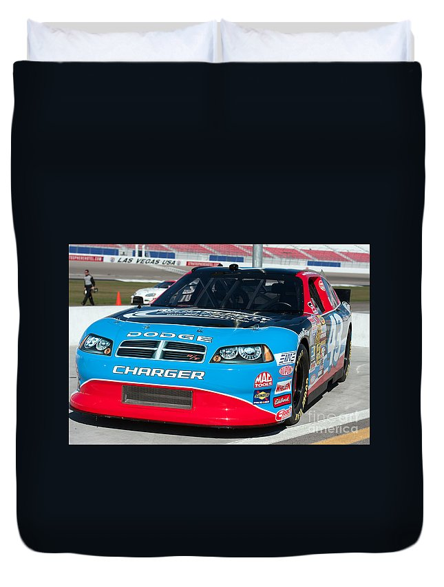 Auto Duvet Cover featuring the photograph Richard Petty Driving School Nascar by Gunter Nezhoda