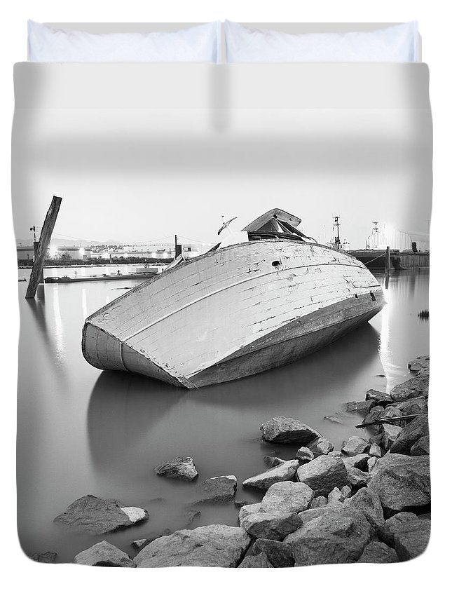 Tranquility Duvet Cover featuring the photograph Richmond, British Columbia, Canada by Brian Caissie