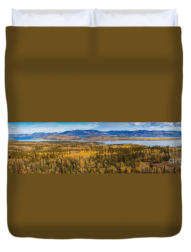 Richthofen Duvet Cover featuring the photograph Richthofen Island Yukon Territory Canada by Stephan Pietzko