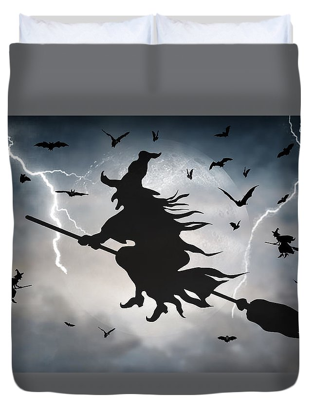 2d Duvet Cover featuring the digital art Ride Like Lighting by Brian Wallace
